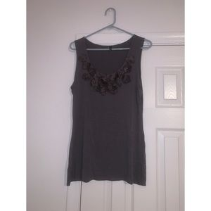 3/$20 Gray Maurices Flower Tank Top